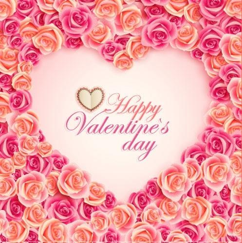 vintage valentine card heart shape vector