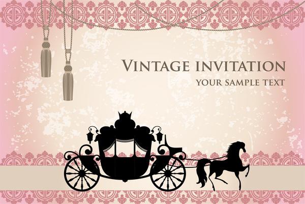 vintage wedding invitation free vector in adobe illustrator ai ai