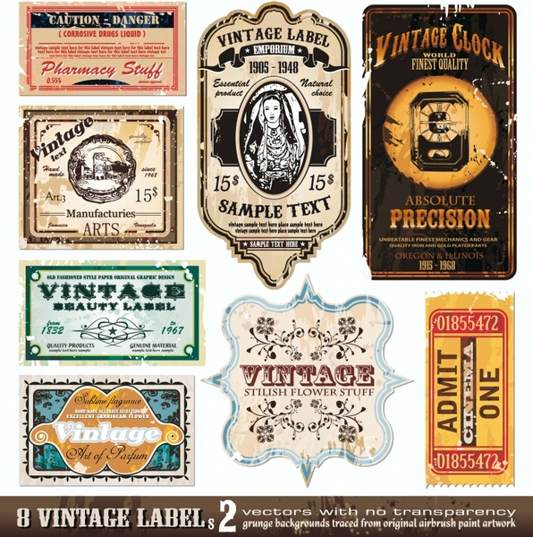 Vintage wine label vector Free vector in Encapsulated ...