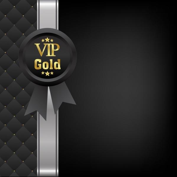 vip card cover elegant black decor medal icon