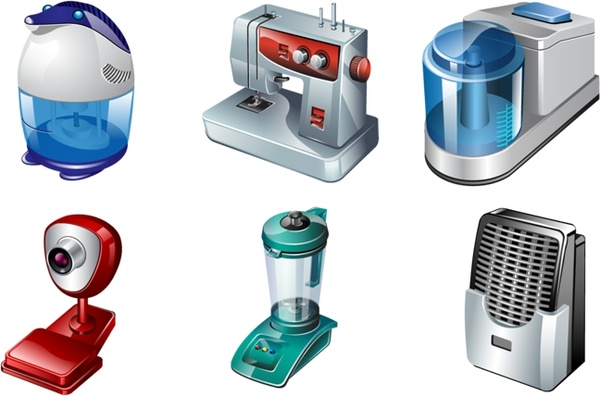 vista electrical appliances icons pack