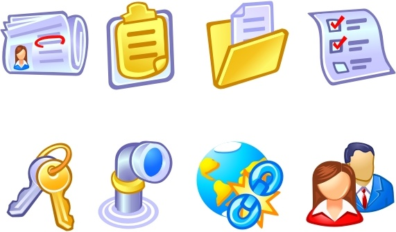 Vista Style Business and Data Icons icons pack