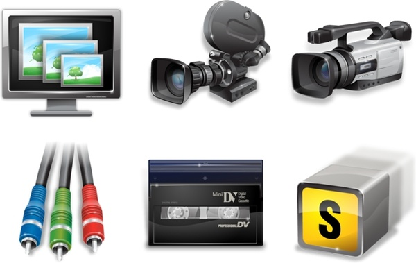 Vista video production icons icons pack