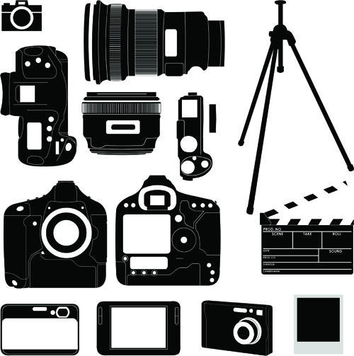 vivid camera and camcorder elements vector