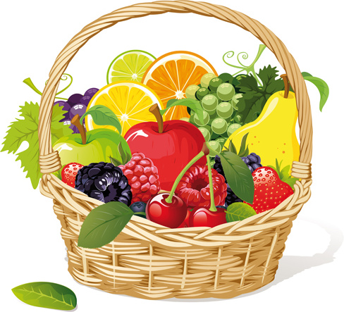 vivid fresh vegetables and fruits vector free vector in encapsulated