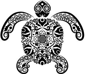 vivid hand drawn tortoise decoration pattern vector
