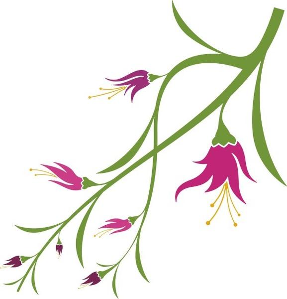 Vivid With Flower Elements Vector Graphics Free Vector In Coreldraw