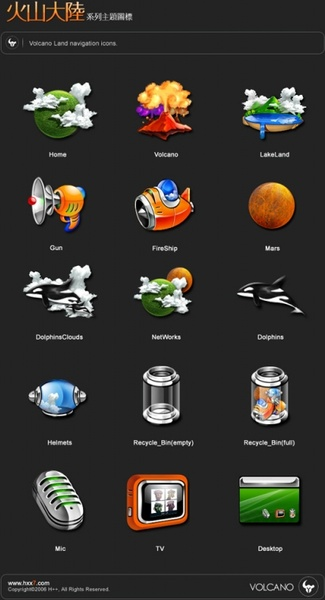 VolcanoLand Icons icons pack