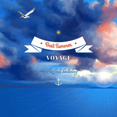 voyage best summer vector background