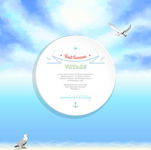 voyage best summer vector background