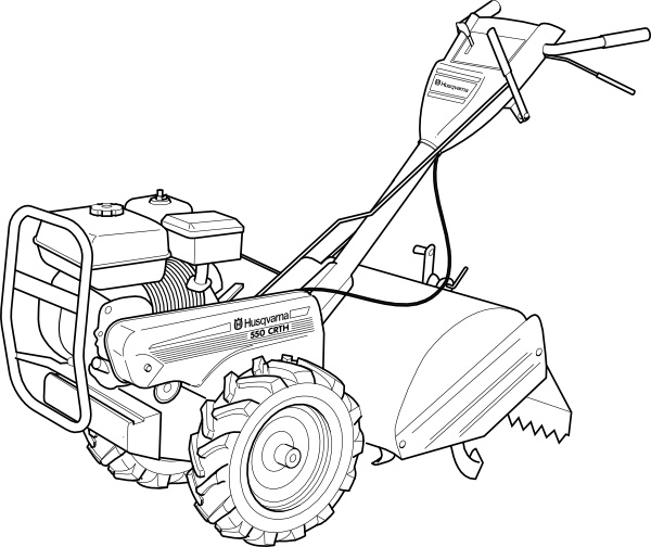 Walking Tractor Power Tiller Clip Art Free Vector In Open Office