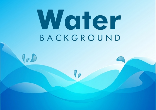 water background blue wave ornament