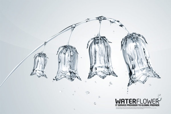 water creative series of psd layered 2