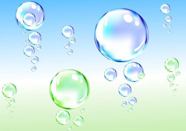 decorative background transparent water bubbles icons decor