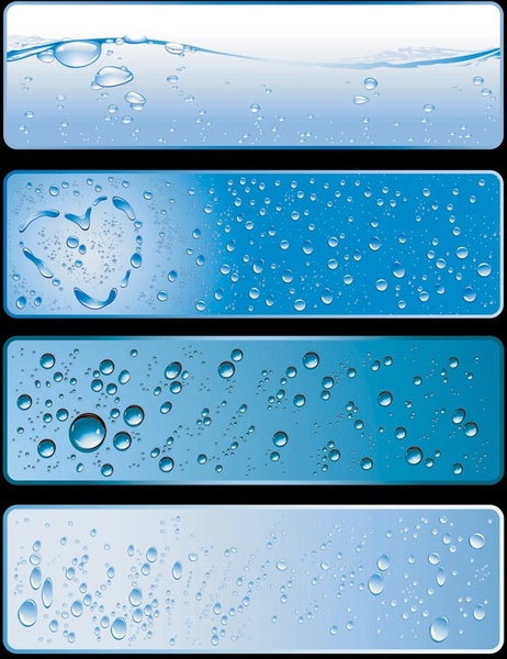 water theme banner vector