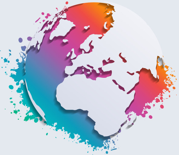 Watercolor and earth map vector free vector in adobe illustrator ai watercolor and earth map vector gumiabroncs Images