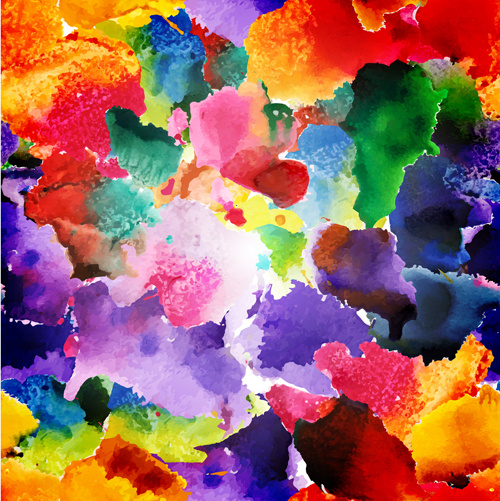 Watercolor Object Abstract Art Background Vector Free Vector
