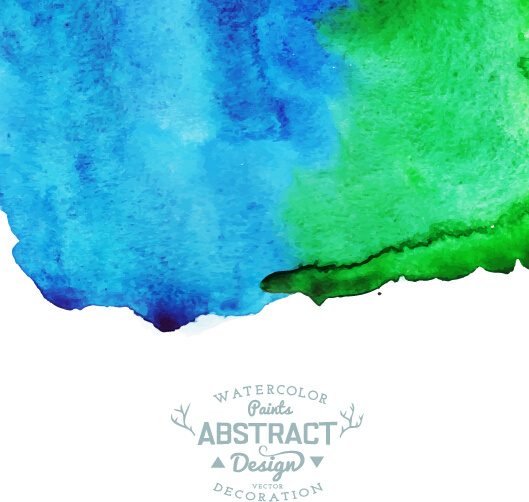 watercolor paints abstract vector background
