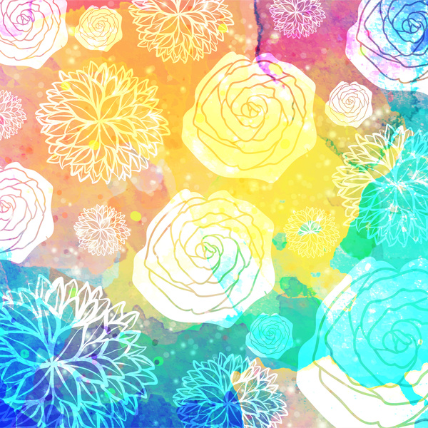 watercolor rose background