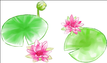 Watercolor Style Lotus Free Psd In Photoshop Psd Psd Format