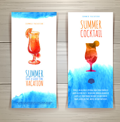 watercolor summer travel creative background