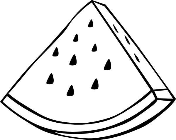 watermelon melon outline clip art free vector in open office drawing