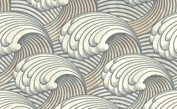 Waves background classical closeup decor curves sketch ...