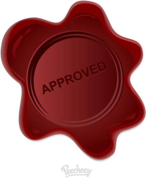 Wax Stamp Approved Free Vector In Adobe Illustrator Ai