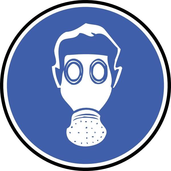 wear gas mask clip art free vector in open office drawing svg