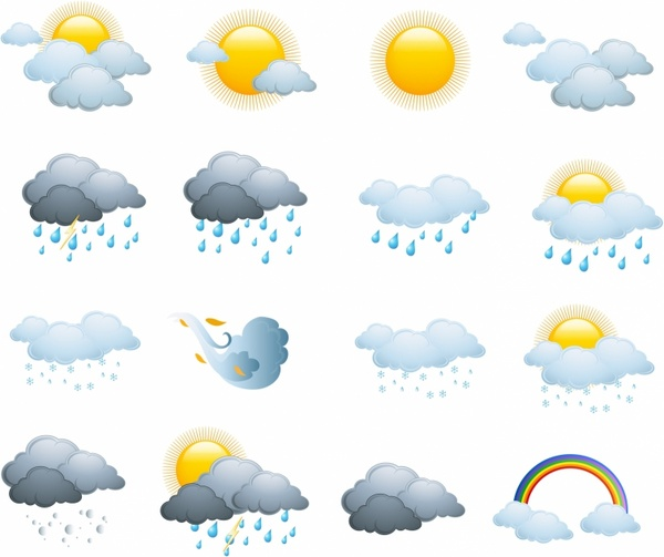 weather icons  day forecast free vector in adobe Vintage Happy Birthday Clip Art Funny Happy Birthday Clip Art