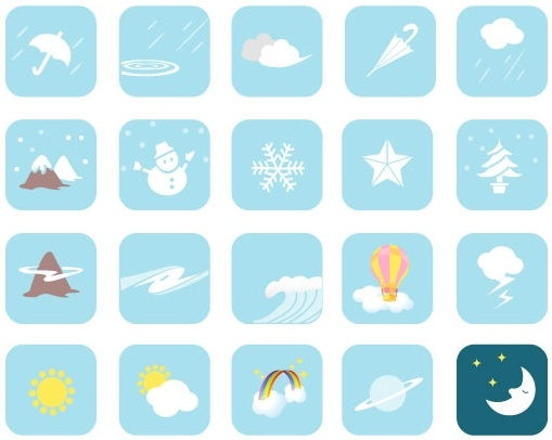 Weather Vector Symbols