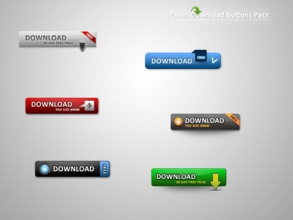 web20 web download button psd