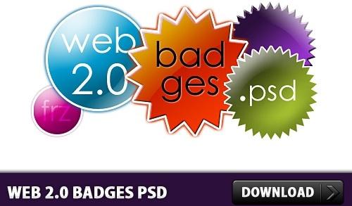 Web 2.0 Badges Free PSD