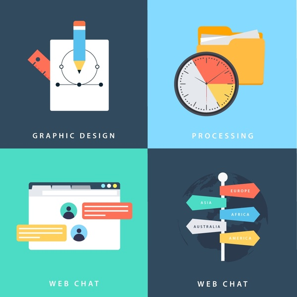 Application Design   Web Application Design Elements Isolation With Various Types Free
