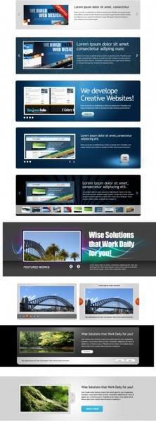 web banner psd layered