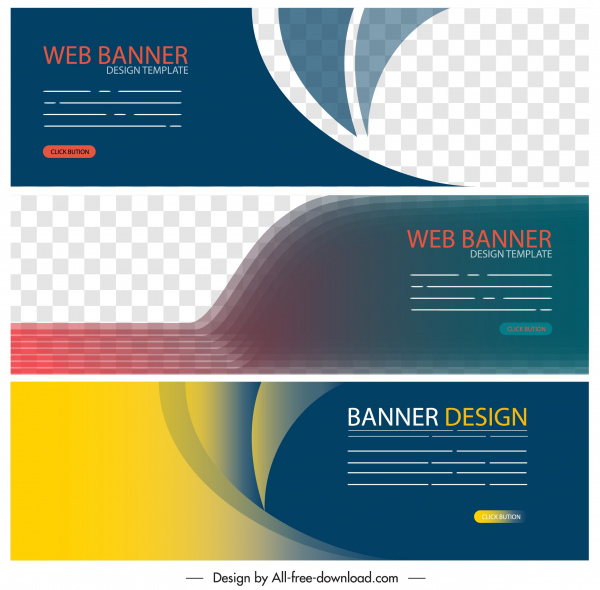 Web Banner Templates Elegant Colorful Modern Technology Decor Free Vector In Adobe Illustrator Ai Ai Format Encapsulated Postscript Eps Eps Format Format For Free Download 1 34mb
