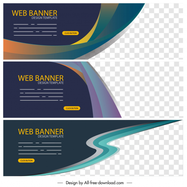 Web Banner Templates Modern Abstract Elegant Decor Free Vector In Adobe Illustrator Ai Ai Format Encapsulated Postscript Eps Eps Format Format For Free Download 2 22mb