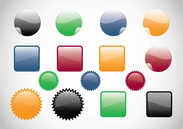 Web Buttons Vectors