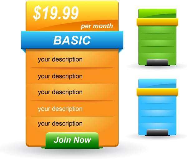 web menu templates shiny modern colored decor