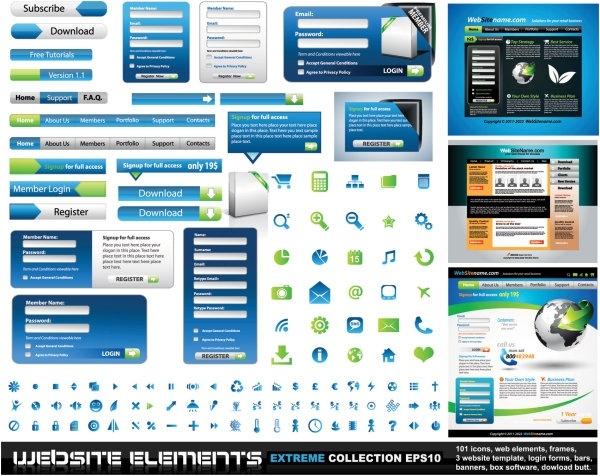 web design elements 01 vector