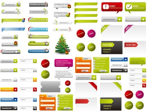 web design elements 02 vector