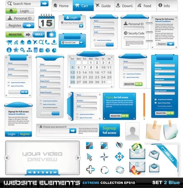 web design elements 02 vector