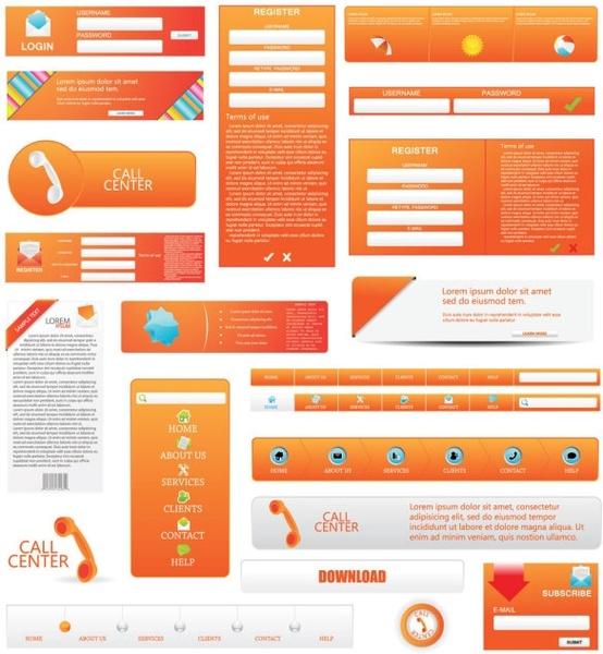 web design elements 05 vector