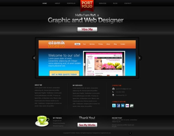 web design psd layered