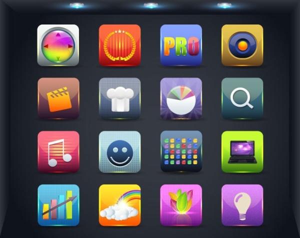 web icon button 02 vector