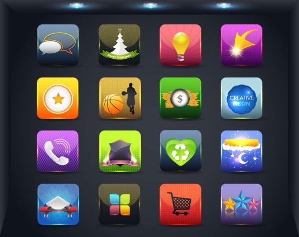 web icon button 04 vector
