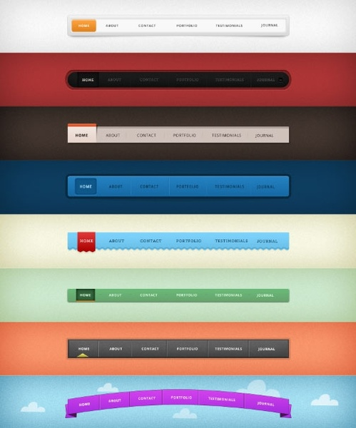 web navigation design 01psd layered
