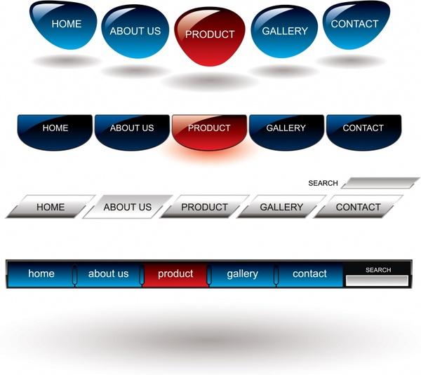 web navigation design elements modern shiny decor