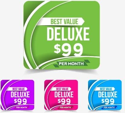 web price tag design vector