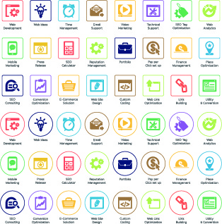 web seo icons vector